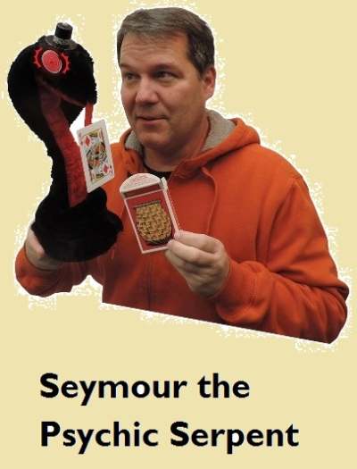 "A special deck and Seymour's ""scent-finding tongue"" does all the work for you. No sleight of hand required!"